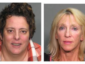 Carolyn Burnham (left) and Barbara Woodworth