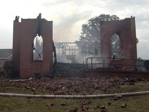 Members of a historic Kittrell church gave thanks Sunday for the new sanctuary they built with $1.2 million, two years' time and a whole lot of faith. In August 2007, fire destroyed the sanctuary at the 175-year-old Union Chapel United Methodist Church, at 6479 Raleigh Road.