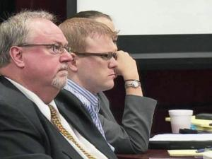 Joshua Stepp, with attorney Terry Alford, listens to closing arguments on Sept. 6, 2011, in his first-degree murder trial.