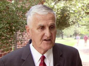 Retired Army Gen. Hugh Shelton on the N.C. State campus for a Sept. 11 memorial ceremony.