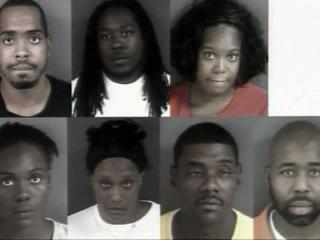 Eight people have been charged with defrauding the Cumberland County Sheriff's Office and a Fayetteville bank.