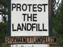 Harnett County landfill opposition sign