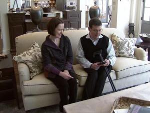 Jennifer and Shane Pegram in their Cary home