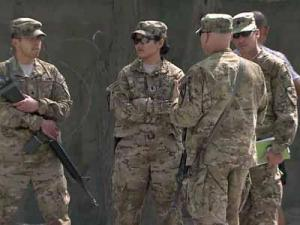 U.S. soldiers on base at Bagram Airfiend in Afghanistan on Oct. 7, 2011.