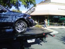 A BMW SUV plowed through a glass door of a Starbucks coffee shop at 6282 Glenwood Ave. in Raleigh on Sunday, Oct. 9, 2011.