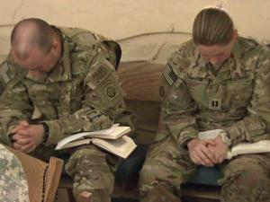 Troops with Fort Bragg's 82nd Combat Aviation Brigade find comfort in spirituality.