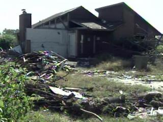 Some areas hit in the April 16, 2011, tornado outbreak in eastern North Carolina continued to show signs of damage six months later.