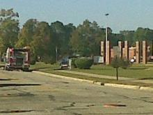 Hazmat crews were at E.E. Smith High School in Fayetteville on Oct. 25, 2011, after an experiement exploded in the chemistry lab injuring students.