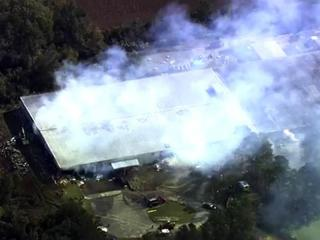 Firefighters battled a Nov. 2, 2011, fire at the Kinston Fibers plant, off U.S. 70 in Kinston.