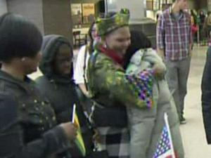 Victor and Louis Messan of Goldsboro were reunited with their six children at Raleigh-Durham International Airport on Nov. 2, 2011. The children were stuck in West Africa amid civil unrest for the past four years.