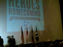 Heroes Homecoming began Nov. 4, 2011, with a ceremony at the Special Operations Museum in front of a standing-room only crowd.