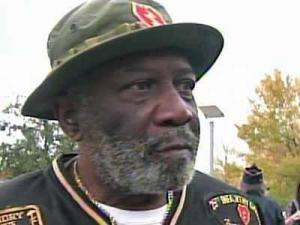Vietnam Veteran Cleon Gibbs attended the Heroes Homecoming kick-off ceremony in Fayetteville on Nov. 4, 2011.