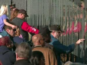 A half-sized replica of the Vietnam Wall that has toured the country for the past two decades arrived in Fayetteville Sunday as part of the city's Heroes Homecoming celebration in honor of Vietnam veterans.