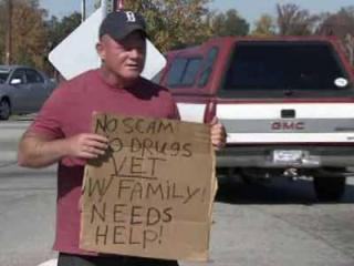 Bobby Corcoran has been panhandling in Wake County for the past year since he lost his car and job.