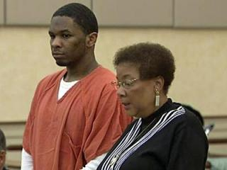 Laurence Lovette Jr., left, with his attorney, Karen Bethea-Shields, enters a not guilty plea in Orange County Superior Court Nov. 17, 2011. Lovette, 20, faces a first-degree murder charge in the March 5, 2008 shooting death of Eve Carson.