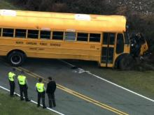 No serious injuries when school bus flips near Kenly