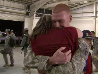 About 60 Fort Bragg soldiers returned to North Carolina Wednesday night, while all troops prepare to come home by the end of the year.
