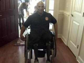 Operation Coming Home built a home in the Spout Springs community of Harnett County for Marine Sgt. Carlos Evans, who lost his legs and his left hand while serving in Afghanistan.