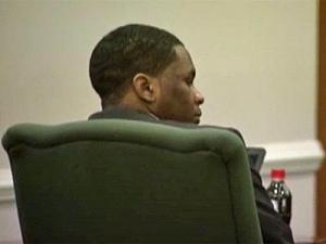 Laurence Lovette sits in an Orange County courtroom Dec. 8, 2011, where he is on trial for first-degree murder in the March 5, 2008, death of Eve Carson.