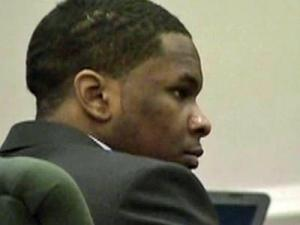 Laurcence Lovette Jr. sits in an Orange County courtroom Dec. 9, 2011, during his first-degree murder trial in the death of Eve Carson.
