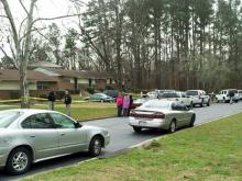 Louisburg Police Chief Rick Lassiter said a boyfriend and girlfriend died of gunshot wounds at the Franklin Court apartments, 119A Second St., in an apparent murder-suicide around 8 a.m. Wednesday, Dec. 14, 2011.