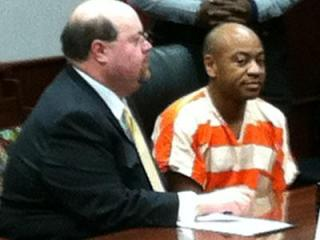 Grant Haze sits in a Wake County courtroom on Dec. 16, 2011.