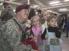 Family members and friends gathered at Fort Bragg Tuesday evening, welcoming about 200 soldiers from the 82nd Airborne Division's 2nd Brigade Combat Team back home.