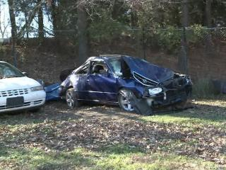 Jessica Alston died Saturday when her car swerved off Axtell Ridgeway Road in Norlina.