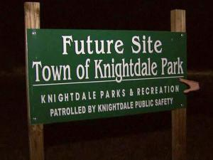 Future town park in Knightdale