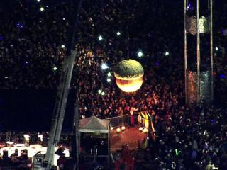 Thousands of New Year's Eve revelers gathered in downtown Raleigh Saturday evening to watch an acorn descend on the City of Oaks to welcome 2012.
