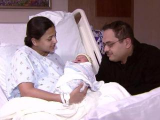 Renuka Kelapure delivered her son Rushil, who weighed 6 pounds, 12 ounces. Her husband is Rohit.