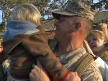 150 Marines were reunited with family and friends Friday at Camp Lejeune.
