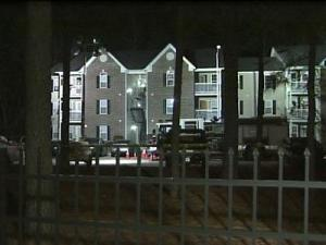 Austin Creek Apartments in Fayetteville were the scene of a police stand-off Jan. 13, 2012.