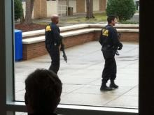 Wake Tech lockdown on Jan. 24, 2012. (Photo courtesy of Conor McLeod)