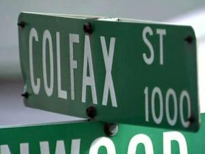 Colfax Street sign in Durham