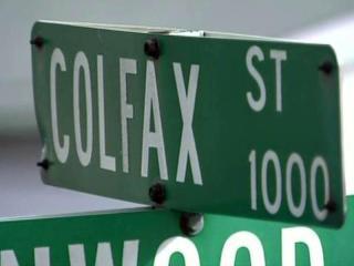 Colfax Street sign in Durham
