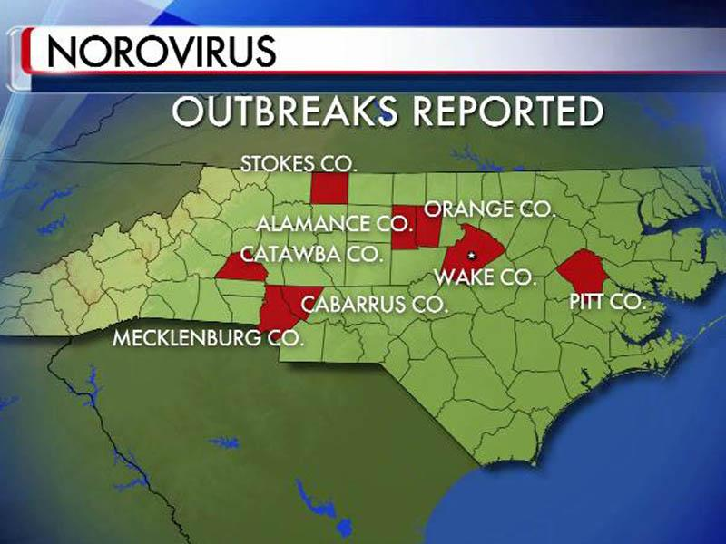 Norovirus Outbreak Map NC sees increase in norovirus outbreaks :: WRAL.com