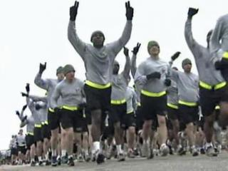 Approximately 14,000 soldiers ran through Fort Bragg Thursday morning, Feb. 2, 2012, to mark the homecoming of the 18th Airborne Corps from Iraq. The last soldiers in that unit returned in December.