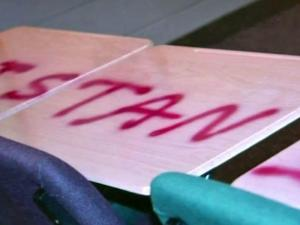 Vandals caused an estimated $10,000 to $15,000 in damage at Grace Christian School in Sanford on Feb. 2, 2012.