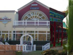 Blueprint of a Chinese pagoda design renovation at the Morrisville Outlet Mall