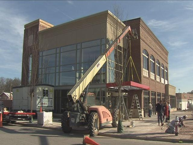 Construction is wrapping up at the two-story Chick-fil-A restaurant in Raleigh&#039;s Cameron Village before its grand opening March 1.<br/>Photographer: Terry Cantrell