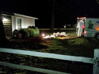 Johnston County officials clean up a meth lab at 8694 Brogden Road in Smithfield on Feb. 22, 2012.
