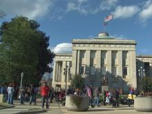 Occupy Raleigh welcomed other groups to share the message of economic injustice Saturday at the NC State Capitol.