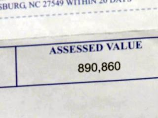 A revaluation project in Franklin County raised the assessed values of some properties in Youngsville by up to 700 percent.