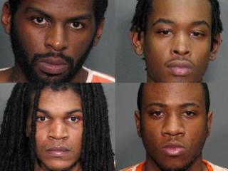 Clockwise from top left: Kwamane Everett, Dariel Haddock, Demario Williams and Steven Cooley