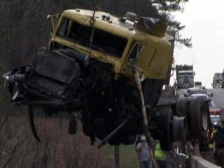 A truck driver died March 8, 2012, after his tractor-trailer veered off U.S. Highway 1 and plunged into the Haw River in Chatham County.