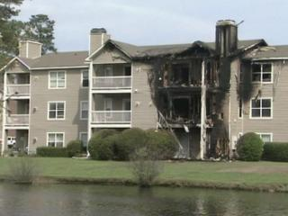 A fire damaged several units at Barton's Landing Place in Fayetteville on March 28, 2012.