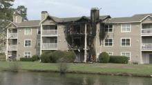 IMAGES: Fayetteville condo fire displaces dozens