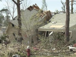 Tornado upheaves Lee County home