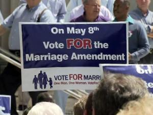 More than 50 pastors and church groups rallied in Wilson Wednesday in support of a proposed constitutional amendment that would define marriage between a man and a woman as the only legally recognized domestic union in North Carolina.